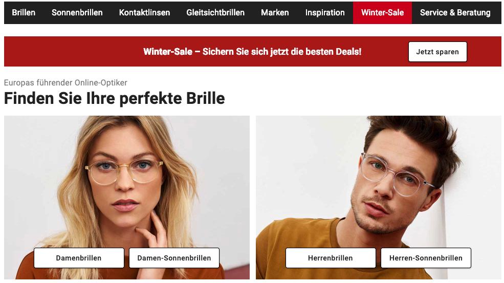 d14e37296c8e8 Brille online anprobieren: Top 4 Anbieter & Ratgeber für die Online ...